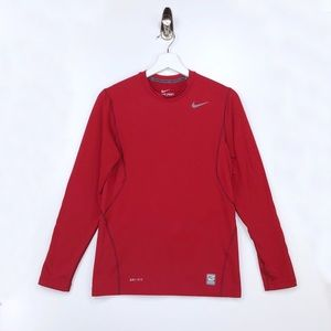 NIKE DRI FIT  Fitted Long Sleeve Shirt Size Small